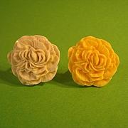 Gul og hvid foldet blomst ring