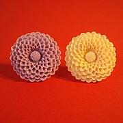 Lyslilla eller hvid mega blomst ring