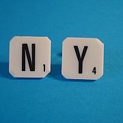 NY scrabble manchetknapper