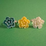 Dobbelt blomst ring