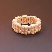 Hvidt 6�er Lego armb�nd